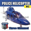 RADIO REMOTE CONTROL FALCON POLICE 3D mini HELICOPTER BLUE