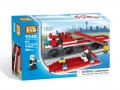 Loz Diamond block Toys - City series, Off Road Fire Truck and Fire Boat