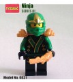 Decool minifigure - Ninja series, Series III, Green Ninja ZX No Package Box