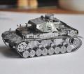 Metal Laser Etching 3D metal steel - WWII Germany Tank