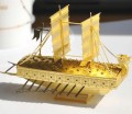 Metal Laser Etching 3D metal steel - GEOBUKSEON War Ship Golden Edition
