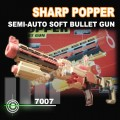 SHARP POPPER Semi-Auto soft bullet Gun 10 Darts