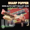 SHARP POPPER Semi-Auto soft bullet Gun 10 Darts
