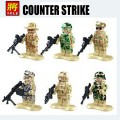 LELE minfigure, Modern War series, Counter Strike Full Set No Package Box