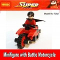 Decool Minfigure, Super Hero series, ROBIN with Battle Motorcycle  No Package Box