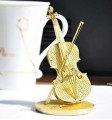 Metal Laser Etching 3D Golden metal steel - Violin