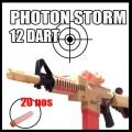 9 x Photon Storm Semi-Auto soft bullet Gun 12-Darts Extended