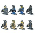 LELE minfigure, Modern War series, SWAT Full Set No Package Box