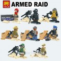 LELE minfigure, Modern War series, ARMED RAID Full Set No Package Box