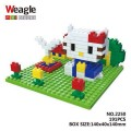 Weagle mini block toys - cartoon & animal - Kitty Happy Small Garden