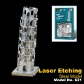 Metal Laser Etching 3D Learning Tower Model