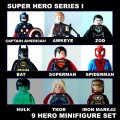 Decool minifigure - Super Heroes series I 9 Hero Included