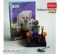 Decool minifigure - Minecraft series Steve with Iron armor
