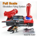 2.4GHz 3 channel rc Helicopter Full Scale simulation Control system