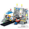 Banbao Block Toy - Transportation series, Train Station Platform