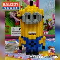 BALODY Serial Block Toy, Cartoon Series,, Minion kavin 488pcs
