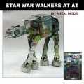 Metal Laser Etching 3D Star Wars AT-AT Walkers Model