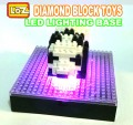 Loz Display box with LED Lighting base for Diamond block toys, Cartoon series