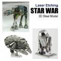 Metal Laser Etching 3D metal steel - Star War Set
