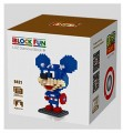 Loz diamond block Toys, Mickey Series, Mickey Captain US