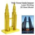 Metal Laser Etching 3D metal steel - Twin Tower kuala lumpur