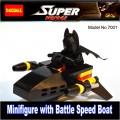 Decool Minfigure, Super Hero series, BATMAN with Battle Speed Boat  No Package Box