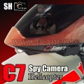 SH C7 Lightning 3.5ch Metal Spy RC Helicopter w/ Camera and Gyro (Orange Color)