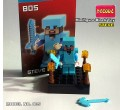 Decool minifigure - Minecraft series Steve with diamond armor