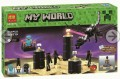 Minecraft My World Block Toy Scene set - THE END with Light Brick
