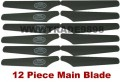Main blade for SYMA S009 AH-64 Apacha / S002 rc helicopter