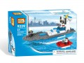 Loz Diamond block Toys - City series, Police Boat