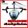 Micro mini rc Zoom 3-D Dolphin Helicopter