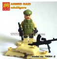 LELE minfigure, Modern War series, ARMED RAID MILITIA No Package Box