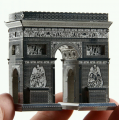 Metal Laser Etching 3D Triumphal Arch Steel Model Display