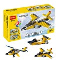Decool Bricks toys - Architect series, 3 IN 1 Super Airplane