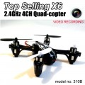 Top selling X6 Shadow Breaker 4ch 2.4g rc Quad-copter with Video / Camera