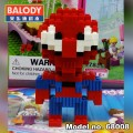 BALODY Serial Block Toy, Cartoon Series,, Spiderman 408pcs