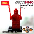 Decool Minfigure, Super Hero series, Fantastic 4 WINTER MODE, Human Torch No Package Box