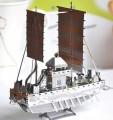 Metal Laser Etching 3D metal steel -Panokseon 16th century Korean Warship