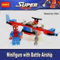 Decool Minfigure, Super Hero series, SPIDERMAN with Battle Motorcycle  No Package Box