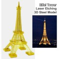 Metal Laser Etching 3D metal steel - The Effel Tower