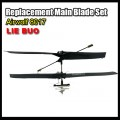 Replacement main blade set for RC Airwolf 3 channel model 8017