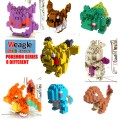 Weagle mini block toys - cartoon & animal - Pockemon Set
