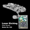Metal Laser Etching 3D Star Wars Millenium Falcon Model